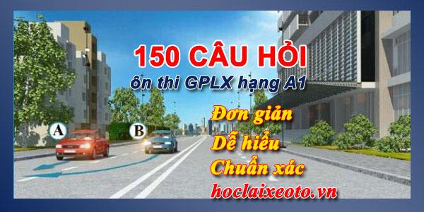 150 câu hỏi thi bằng lái xe máy a1