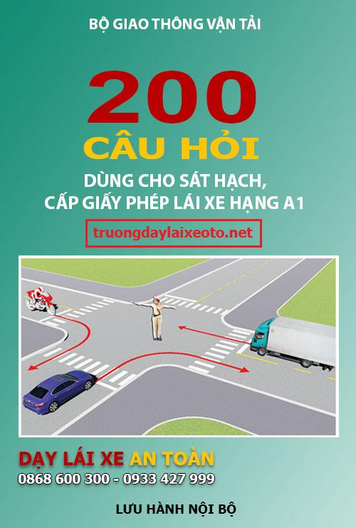 200 câu hỏi thi bằng lái xe máy A1